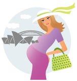 Zwangere jonge vrouw Stock Afbeelding