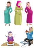 Zwangere Khaliji-Vrouwen Stock Afbeeldingen
