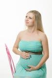 Zwangere meisjesdromen van geboorte Stock Fotografie