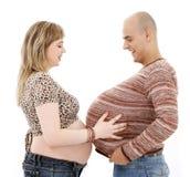 Zwangere mens royalty-vrije stock afbeeldingen