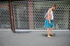 Zwangere schaatser Royalty-vrije Stock Fotografie