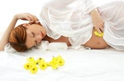 Zwangere schoonheid Royalty-vrije Stock Foto's