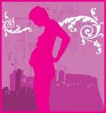 Zwangere Vrouw 2 Vector Illustratie