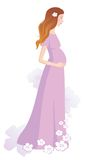 Zwangere vrouw royalty-vrije illustratie