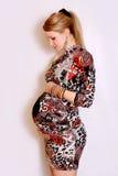 Zwangere vrouw Stock Afbeeldingen