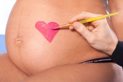 Zwangere vrouw Royalty-vrije Stock Fotografie