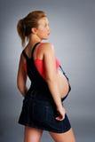 Zwangere vrouw. Stock Afbeeldingen