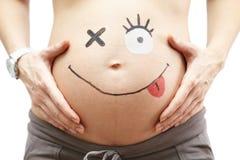 Zwangere vrouw. Royalty-vrije Stock Afbeeldingen