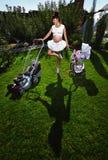 Zwangere vrouw Stock Afbeelding