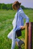 Zwangere vrouw Royalty-vrije Stock Afbeeldingen