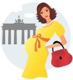 Zwangere vrouw in Berlijn Stock Afbeeldingen