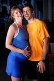 Zwangere vrouw en echtgenoot Royalty-vrije Stock Foto