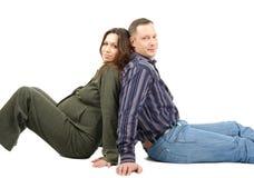 Zwangere vrouw en husbabd steun Royalty-vrije Stock Foto's