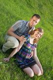 Zwangere vrouw met haar echtgenoot Royalty-vrije Stock Fotografie