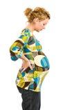 Zwangere vrouw status Royalty-vrije Stock Fotografie