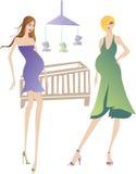 Zwangere vrouwen Royalty-vrije Stock Foto's