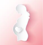 Zwangere Vrouwensticker vector illustratie