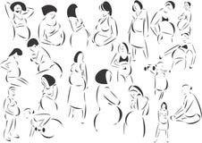 Zwangerschap royalty-vrije illustratie