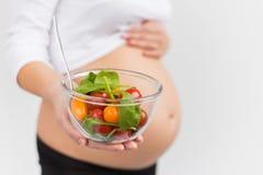 Zwangerschapsdieet en gezonde voeding Royalty-vrije Stock Fotografie