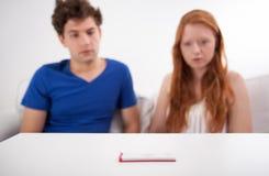 Zwangerschapstest Stock Foto