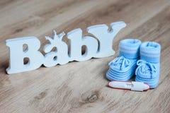 Zwangerschapstest Stock Afbeelding