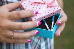Zwangerschapstests Stock Fotografie