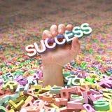 Zwangsarbeit zum Finden des Erfolgs Lizenzfreies Stockbild