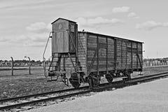 Zwangsverschickunglastwagen in Auschwitz Birkenau Lizenzfreie Stockfotos