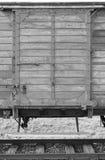 Zwangsverschickunglastwagen in Auschwitz Birkenau Stockbilder