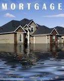 Zwangsvollstreckung in eine Hypothek - Schuld Lizenzfreies Stockfoto