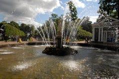 zwany fontanny peterhof Zdjęcia Royalty Free
