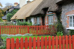Zwany jeden ładne wioski w Irlandia wioska Adare, Adare, Irlandia, spadek, 2014 Zdjęcie Royalty Free
