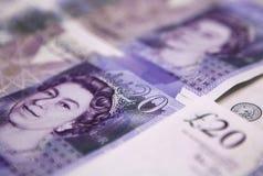Zwanzig (20) Pfund Banknote- Lizenzfreie Stockfotografie