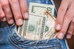 Zwanzig-Dollar-Haften Lizenzfreie Stockfotografie
