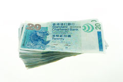 Zwanzig Dollar Hong Kongs, Hong Kong Money, Hong Kong Bank Note Lizenzfreie Stockbilder