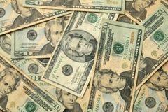 Zwanzig Dollar US-Rechnungen Stockbild