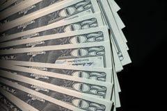 Zwanzig Dollarscheine heraus aufgelockert Lizenzfreie Stockbilder