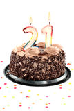 Zwanzig erster Geburtstag oder Jahrestag Lizenzfreies Stockbild