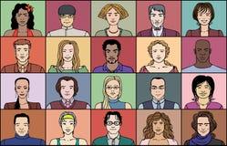 Zwanzig erwachsene Leute Lizenzfreie Stockfotos