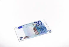 Zwanzig Euros Stockfoto