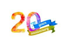 20 zwanzig Jahre Jahrestag vektor abbildung