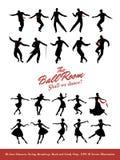 Zwanzig Jazz Dancers Schwingen, Broadway, Felsen und Lindy Hop Stockbild
