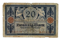 Zwanzig mark Royalty Free Stock Photo
