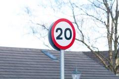 Zwanzig MPH Lizenzfreie Stockbilder