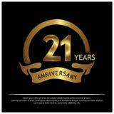 Zwanzig oneyears Jahrestag golden Jahrestagsschablonenentwurf für Netz, Spiel, kreatives Plakat, Broschüre, Broschüre, Flieger, Z lizenzfreie abbildung