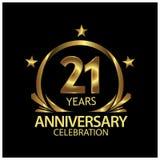 Zwanzig oneyears Jahrestag golden Jahrestagsschablonenentwurf für Netz, Spiel, kreatives Plakat, Broschüre, Broschüre, Flieger, Z stock abbildung