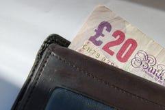 Zwanzig Pfund-Anmerkung Stockfotos