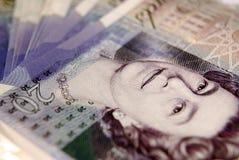 Zwanzig Pfund-Anmerkung Lizenzfreie Stockbilder