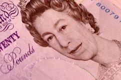 Zwanzig-Pfund-Anmerkung Lizenzfreie Stockfotos