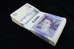 Zwanzig Pfund-Anmerkungen Stockfotos